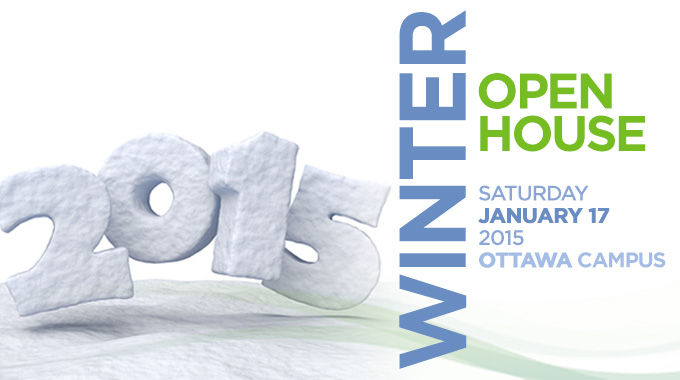 Winter Open House information banner