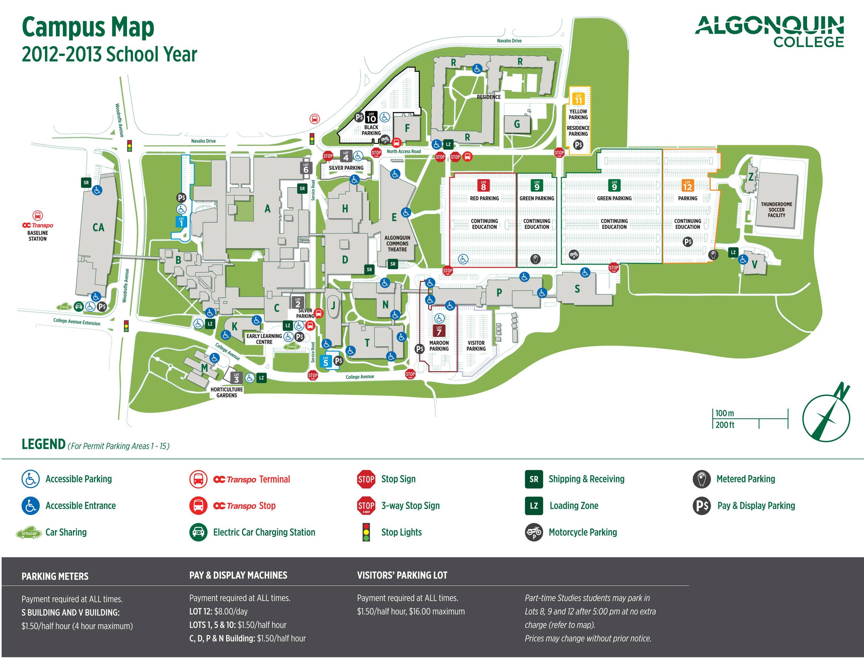 Algonquin College Campus Map LOCATION | Information Security Algonquin College Campus Map