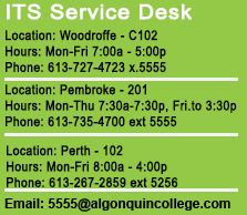 ITS Service Desk hours