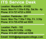 ITS Help Desk hours