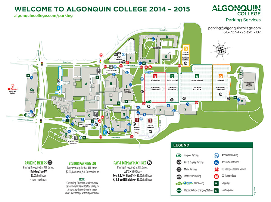 Campus map 2014 - click for pdf version