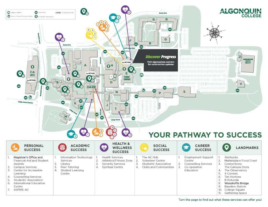 algonquin college map of campus Pathway To Success Map Orientation algonquin college map of campus