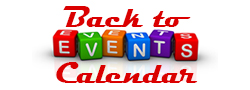 A button that says back to events calendar