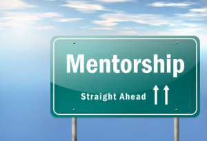 "Highway Signpost ""Mentorship - straight ahead"""
