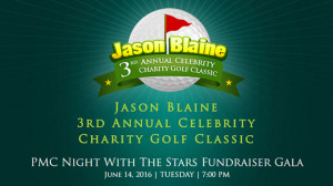 Jason Blaine banner for Concert & Golf event
