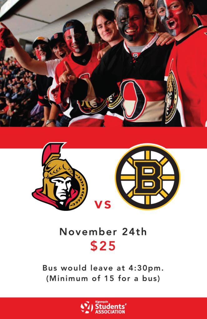 Ottawa Sens Vs Boston Bruins Pembroke Campus