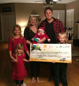Country Music Recording artist and Algonquin Alumnus Jason Blaine with wife and four children
