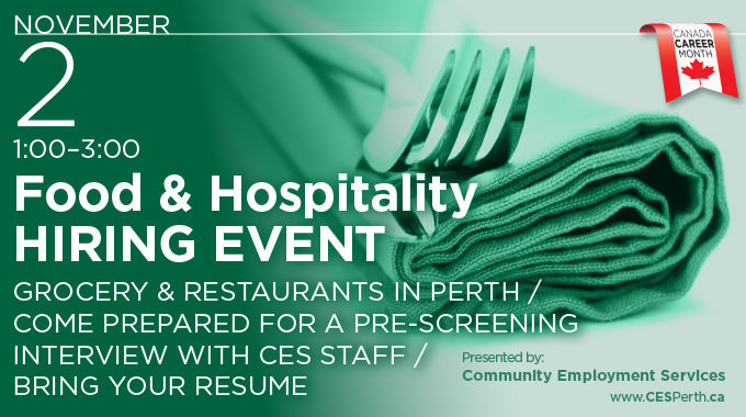 hiring event food hospitality