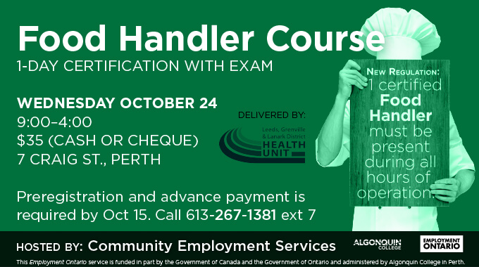 food handler certification | community employment services
