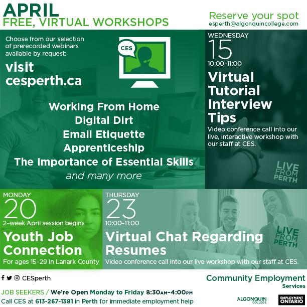 ces workshop calendar  april 2020