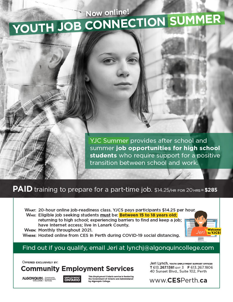 Youth Job Connection Community Employment Services