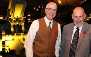 From left, Algonquin College's Christopher Hahn, dean of its Perth campus, with Allan Brown, chair of the Perth chapter of Habitat for Humanity, at the Canadian War Museum on Saturday, November 5, 2016, for the Steel Toes and Stilettos Gala. CAROLINE PHILLIPS / OTTAWA CITIZEN