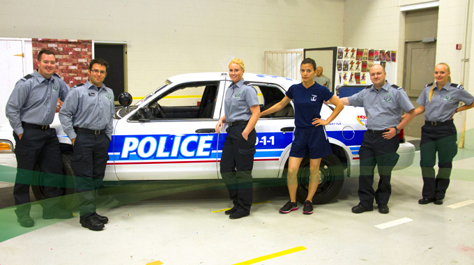 Police Foundations students