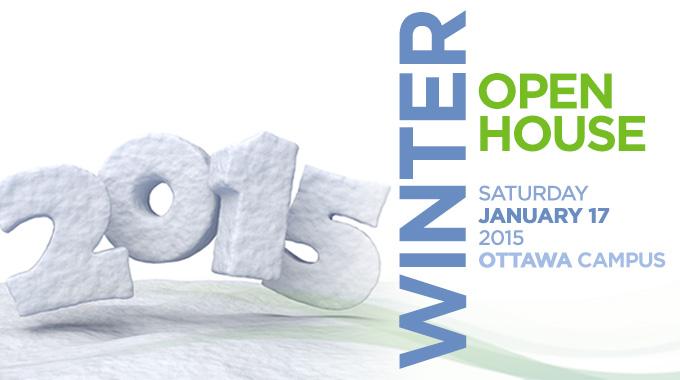 Winter Open House Information banner
