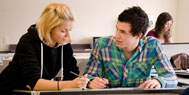 Two students working together for Counselling