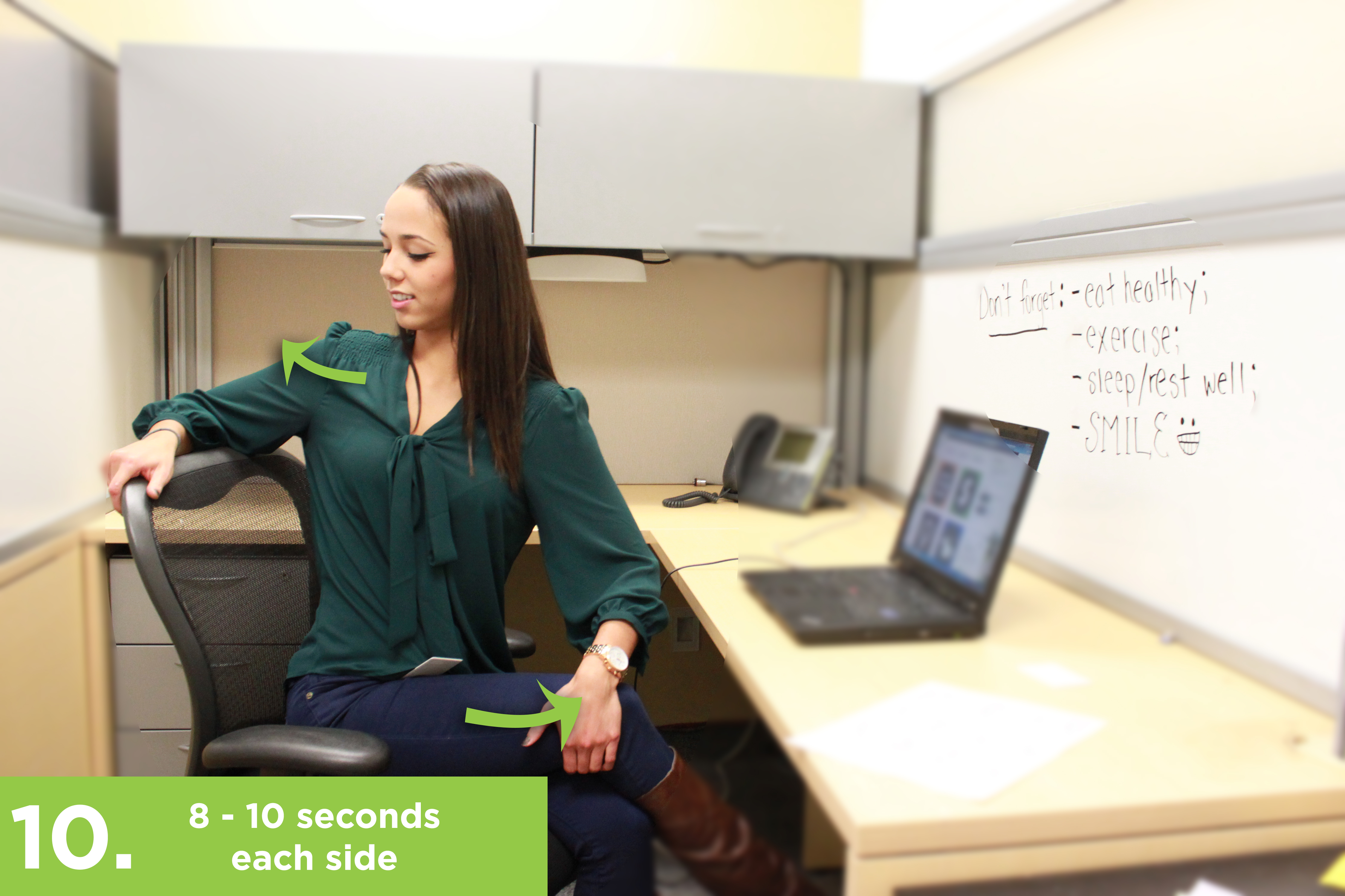 sit while at you work improve sitting desk health exercises exercise watch all your a to day