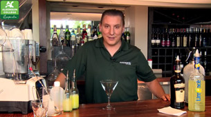 Professor Antonios Vitaliotis of the Bartending program shows us how to make a Frozen Grims-Bee Lemonade!